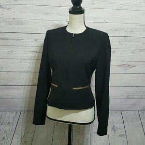 ZARA BASIC Black & Gold Blazer Jacket | Small